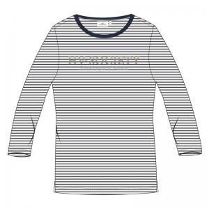 Stripe navy/whi
